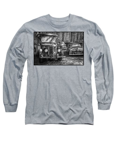 Junked Mack Truck Ad Old Plymouth Long Sleeve T-Shirt