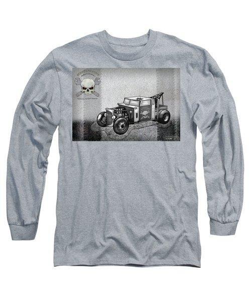 Junkyard Rods Tow Truck Long Sleeve T-Shirt