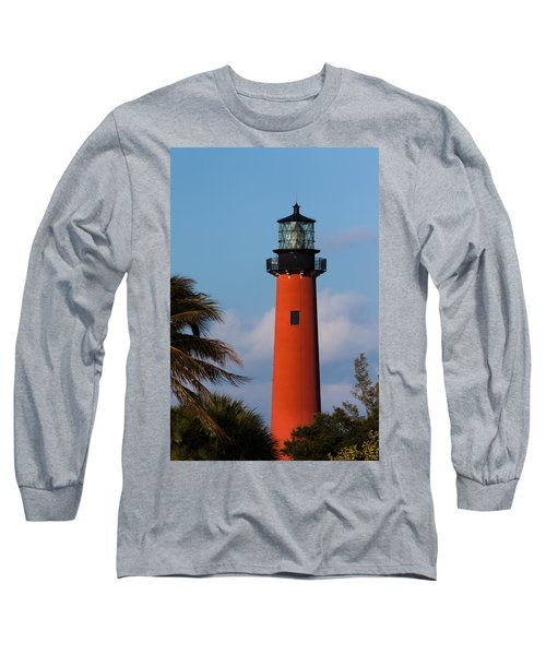Jupiter Inlet Lighthouse Long Sleeve T-Shirt by Ed Gleichman