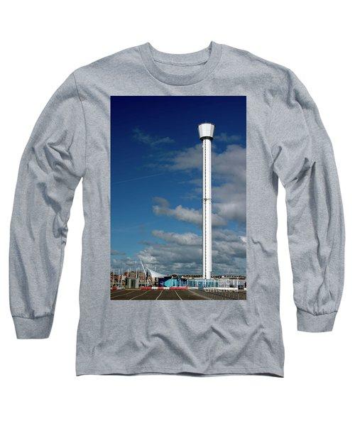 Jurassic Skyline Tower Long Sleeve T-Shirt by Baggieoldboy