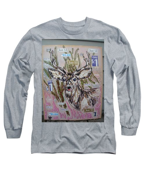 Long Sleeve T-Shirt featuring the painting Just A Buck by Lisa Piper