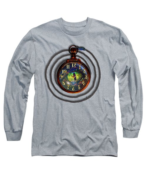 Just A Matter Of Time Long Sleeve T-Shirt by Iowan Stone-Flowers