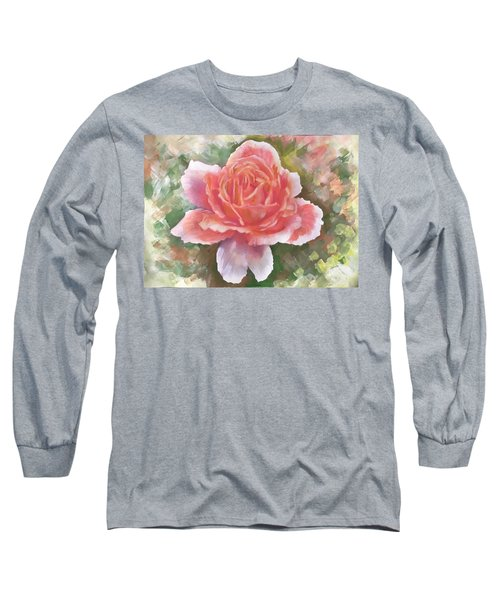 Just Joey Rose From The Acrylic Painting Long Sleeve T-Shirt