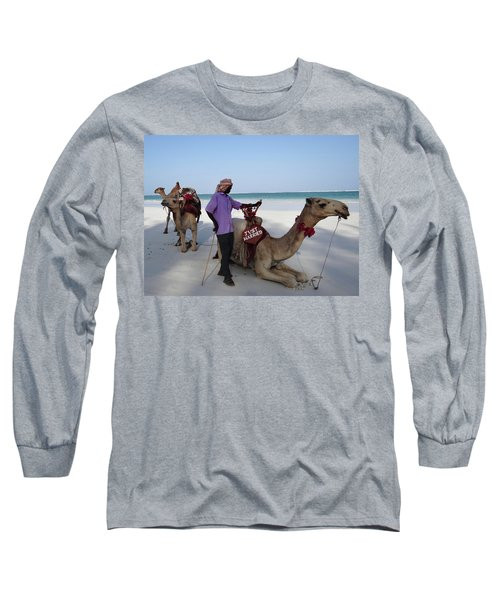 Just Married Camels Kenya Beach 2 Long Sleeve T-Shirt
