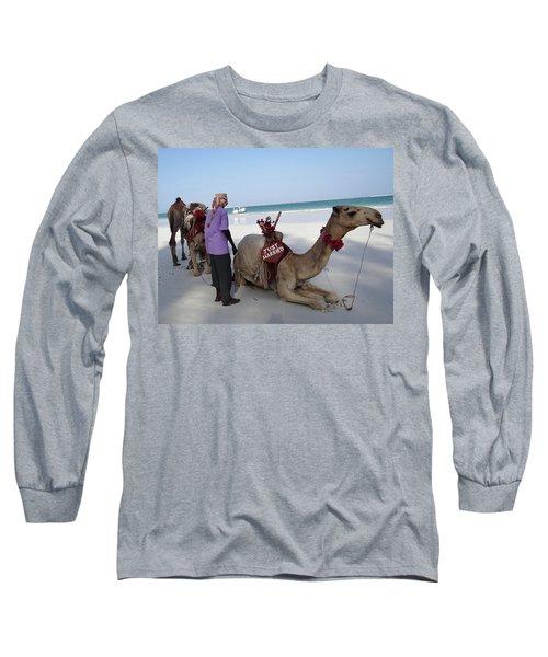 Just Married Camels Kenya Beach Long Sleeve T-Shirt