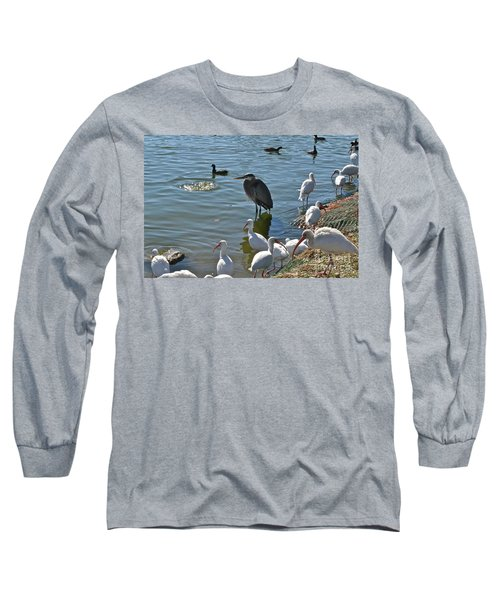 Long Sleeve T-Shirt featuring the photograph Just Me And A Few Friends by Carol  Bradley