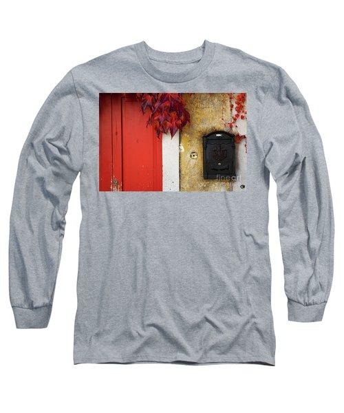 Just Red Long Sleeve T-Shirt by Yuri Santin
