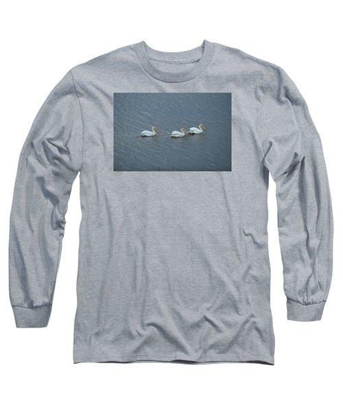 Triple Pelicans Lake John Swa Co Long Sleeve T-Shirt