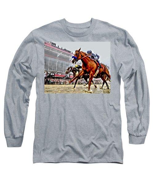 Justify Wins Preakness Long Sleeve T-Shirt