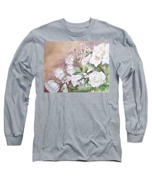 Justin's Flowers Long Sleeve T-Shirt by Marilyn Zalatan