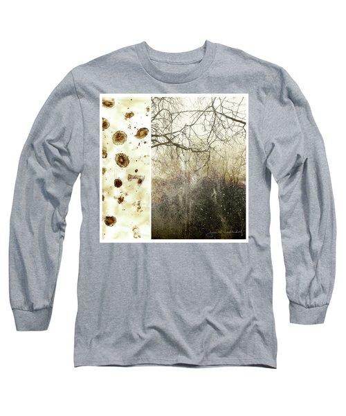 Juxtae #17 Long Sleeve T-Shirt by Joan Ladendorf