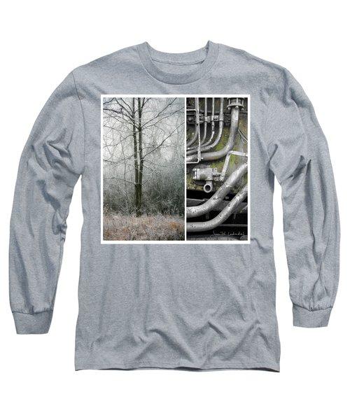 Juxtae #61 Long Sleeve T-Shirt by Joan Ladendorf