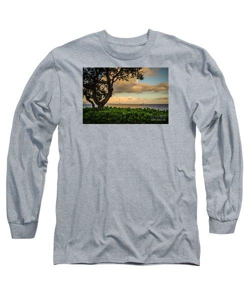 Long Sleeve T-Shirt featuring the photograph Ka'anapali Plumeria Tree by Kelly Wade