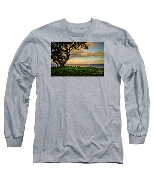 Ka'anapali Plumeria Tree Long Sleeve T-Shirt