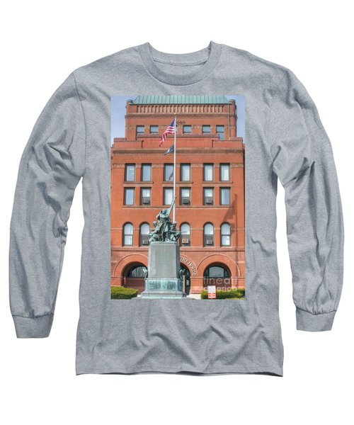 Kane County Courthouse Long Sleeve T-Shirt by David Bearden