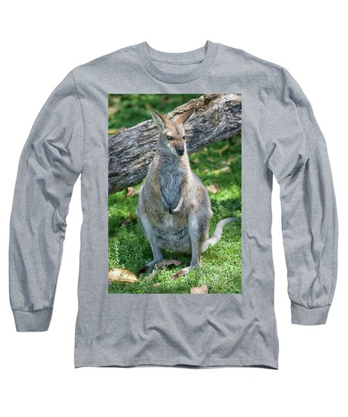 Long Sleeve T-Shirt featuring the photograph Kangaroo by Patricia Hofmeester