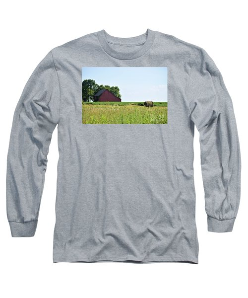 Long Sleeve T-Shirt featuring the photograph Kansas Barn by Mark McReynolds