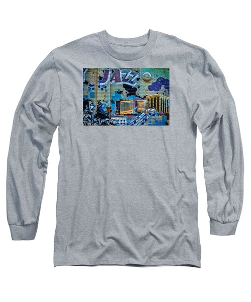 Kansas City Jazz Mural Long Sleeve T-Shirt