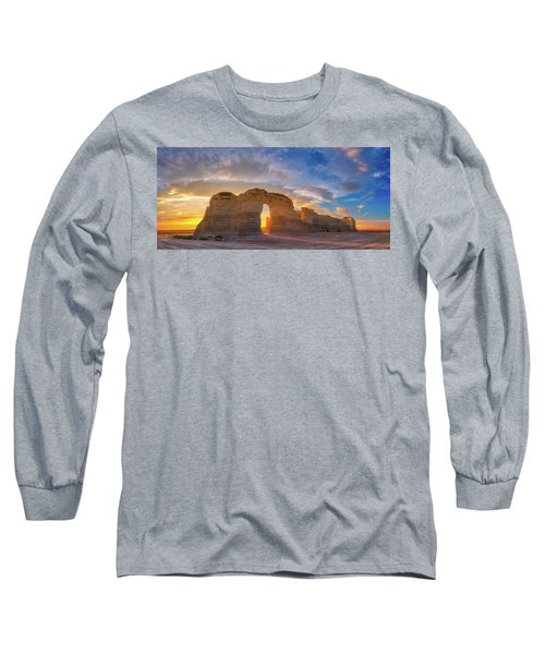 Long Sleeve T-Shirt featuring the photograph Kansas Gold by Darren White