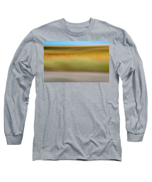 Long Sleeve T-Shirt featuring the mixed media Kansas Sorghum II by Shara Weber