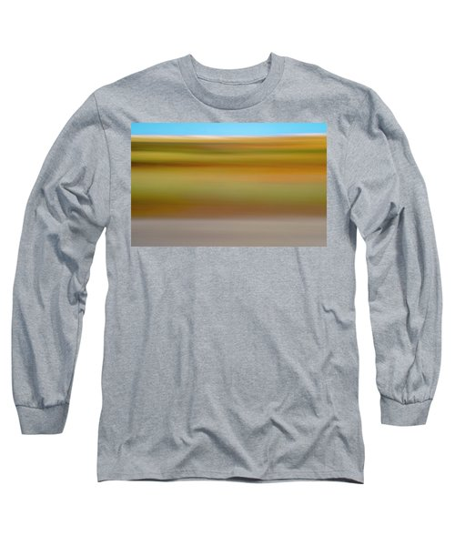 Long Sleeve T-Shirt featuring the mixed media Kansas Sorghum by Shara Weber