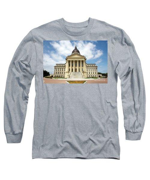 Kansas State Capitol Building Long Sleeve T-Shirt
