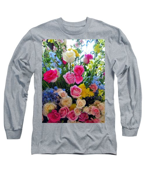 Kate's Flowers Long Sleeve T-Shirt by Carla Parris