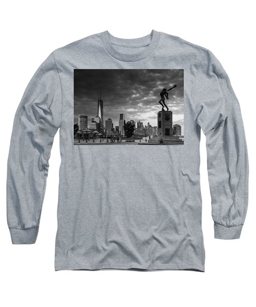 Long Sleeve T-Shirt featuring the photograph Katyn New World Trade Center In New York by Ranjay Mitra