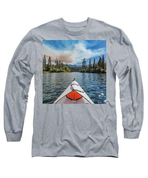 Kayak Views Long Sleeve T-Shirt by Alpha Wanderlust