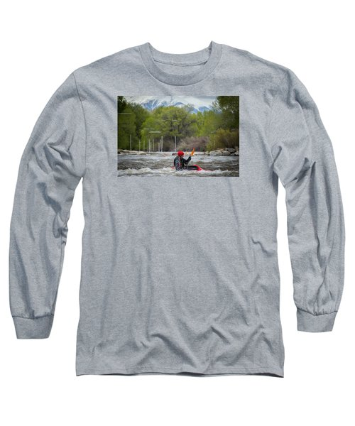 Kayaker On The Arkansas Long Sleeve T-Shirt