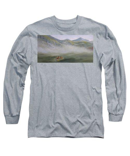 Kayaking Through The Fog Long Sleeve T-Shirt by Joanne Smoley