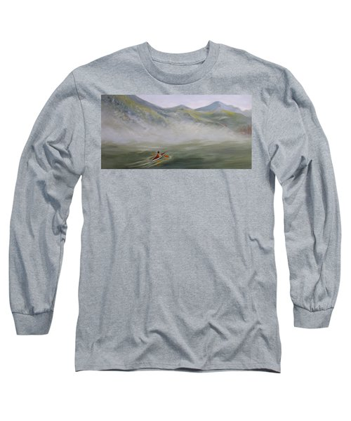 Kayaking Through The Fog Long Sleeve T-Shirt