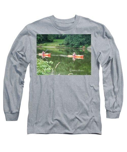 Kayaks On The River Long Sleeve T-Shirt
