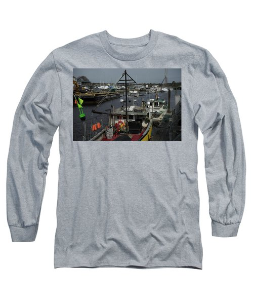 Kennebunkport Harbor In Early Winter Long Sleeve T-Shirt