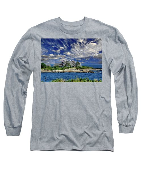 Kennebunkport, Maine - Walker's Point Long Sleeve T-Shirt by Russ Harris