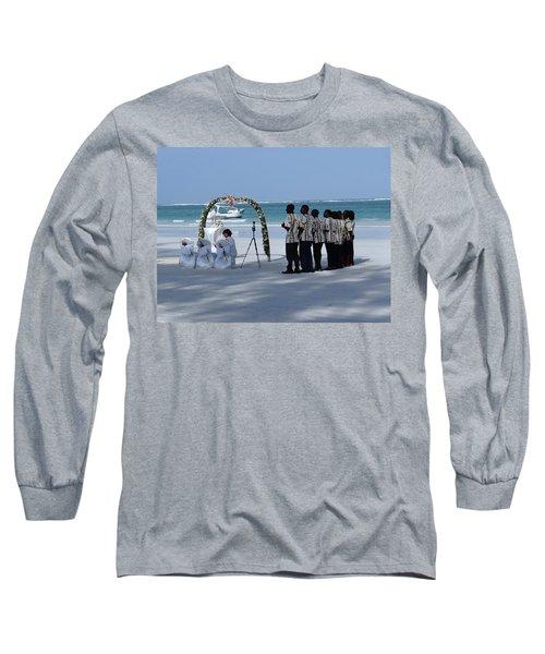 Kenya Wedding On Beach Singers Long Sleeve T-Shirt
