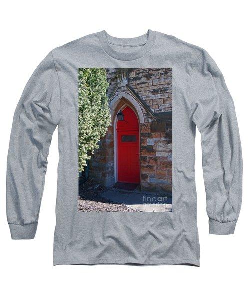 Red Church Door Long Sleeve T-Shirt