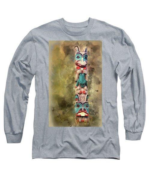 Ketchikan Alaska Totem Pole Long Sleeve T-Shirt