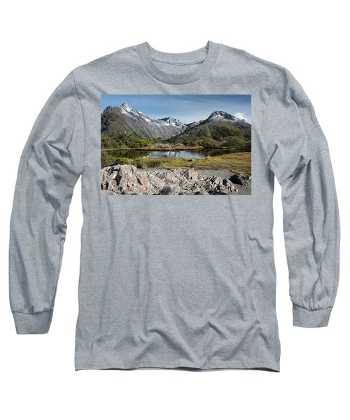 Long Sleeve T-Shirt featuring the photograph Key Summit View by Gary Eason