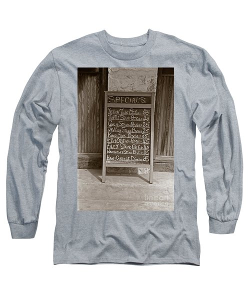 Long Sleeve T-Shirt featuring the photograph Key West Depression Era Restaurant Specials by John Stephens