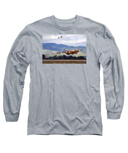 Khe Sanh Lapes C-130a Long Sleeve T-Shirt