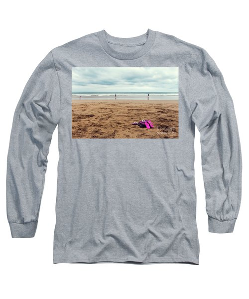 Long Sleeve T-Shirt featuring the photograph Kick Off Your Shoes by Linda Lees