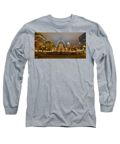 Kiener Plaza And The Gateway Arch Long Sleeve T-Shirt