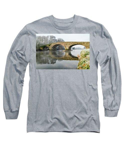 Kilsheelan Bridge In Winter  Long Sleeve T-Shirt