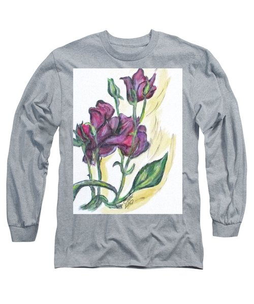 Kimberly's Spring Flower Long Sleeve T-Shirt by Clyde J Kell