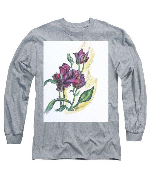 Kimberly's Spring Flower Long Sleeve T-Shirt