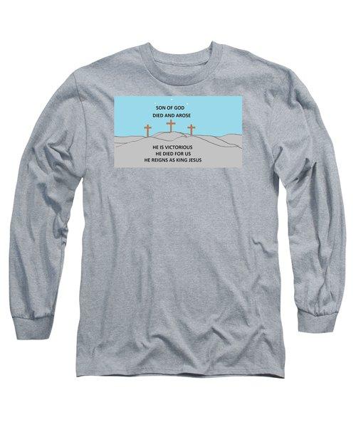 King Jesus Long Sleeve T-Shirt by Linda Velasquez