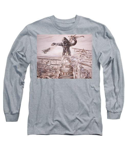 King Kong - Atop The Empire State Building Long Sleeve T-Shirt