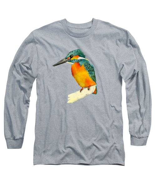 Kingfisher Bird  Long Sleeve T-Shirt