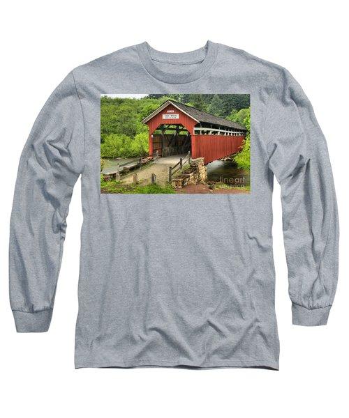 Kings Covered Bridge Somerset Pa Long Sleeve T-Shirt